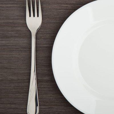 ARFID photo Empty plate with silverware