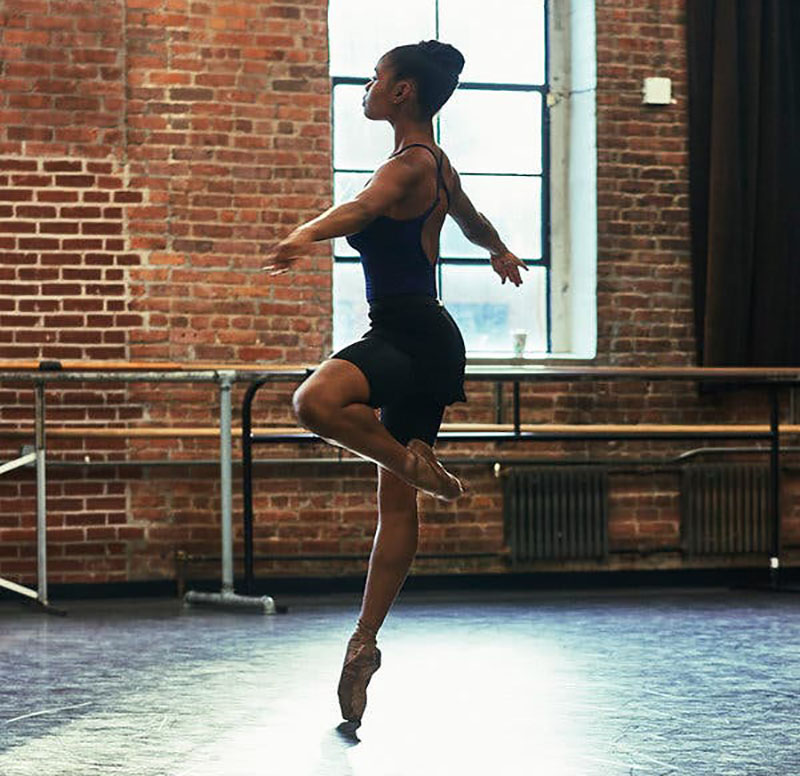 Dancer Dancing in the Studios