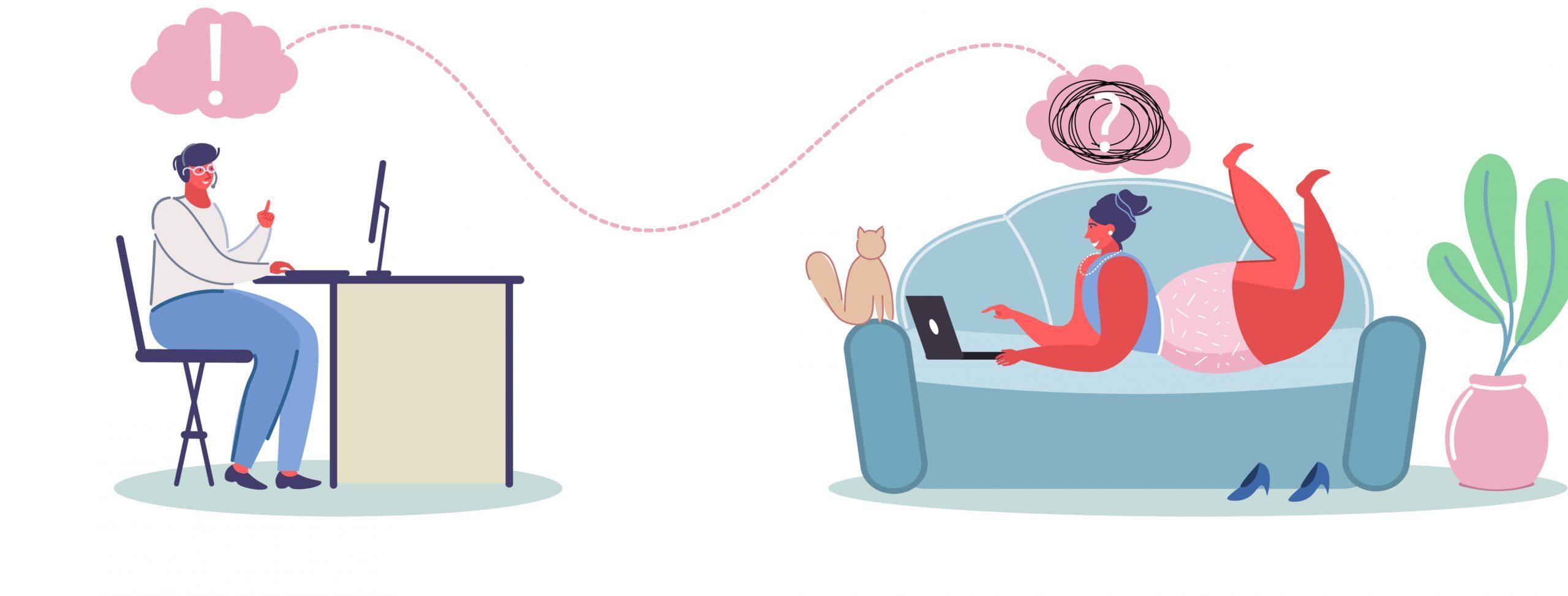Teletherapy Illustration